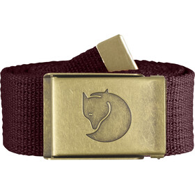 Fjällräven Canvas Brass Belt 4 cm dark garnet